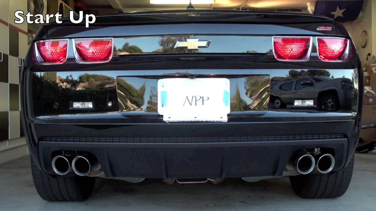camaro ss stock vs open npp exhaust youtube. Black Bedroom Furniture Sets. Home Design Ideas