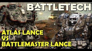 BattleTech Beta ATLAS Lance VS BATTLEMASTER Lance - LIVE GAMEPLAY