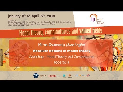 Absolute notions in model theory - M. Dzamonja - Workshop 1 - CEB T1 2018