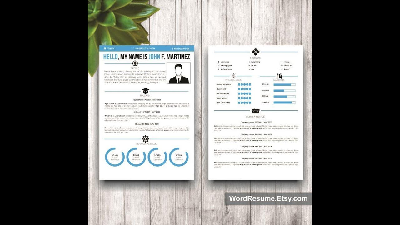 MS Word Creative Resume Template - YouTube