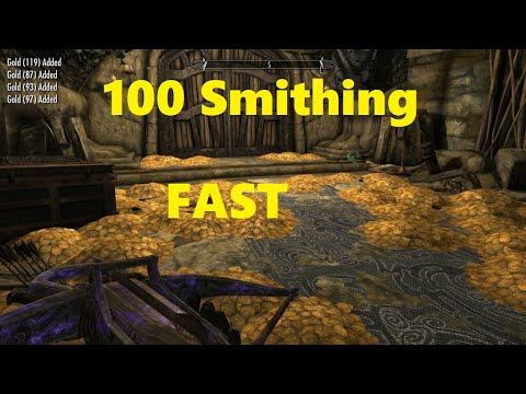 Skyrim Level 100 Smithing And Gold Fast 2020