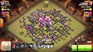[Clash of Clans] Cold Blooded LaLoon @Kenny TH9 vs TH9