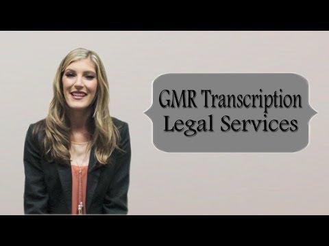 Legal Transcription Services | GMR Transcription