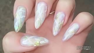 Опаловый дизайн ногтей сама себе