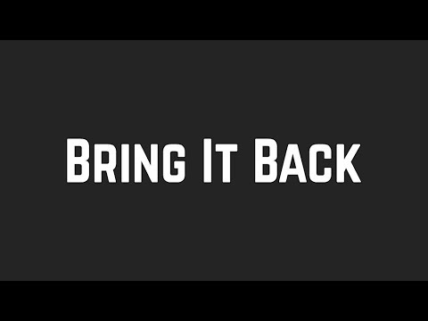 Shawn Mendes - Bring It Back (Lyrics)