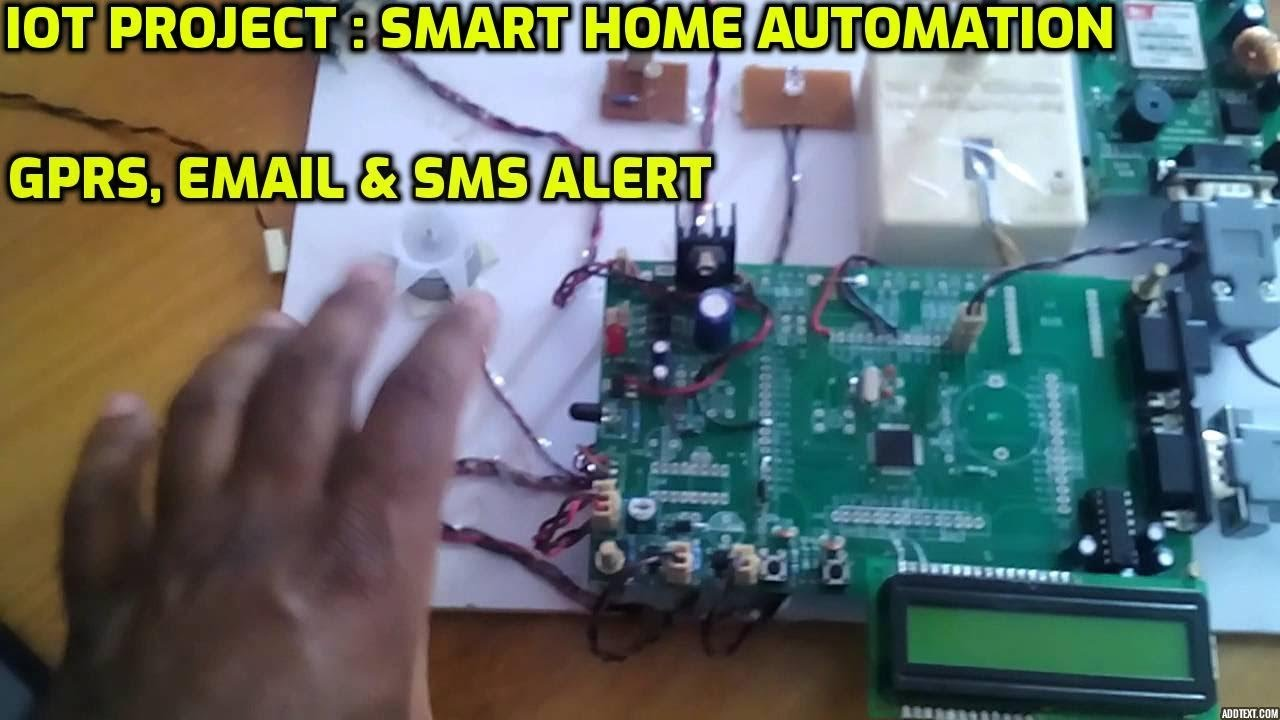 Home automation through sms project