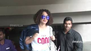 Spotted! Kangana Ranaut at Mumbai Airport