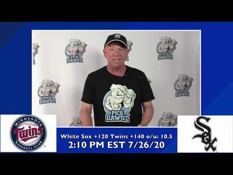Chicago White Sox vs Minnesota Twins Free Pick 7/26/20 MLB Pick and Prediction