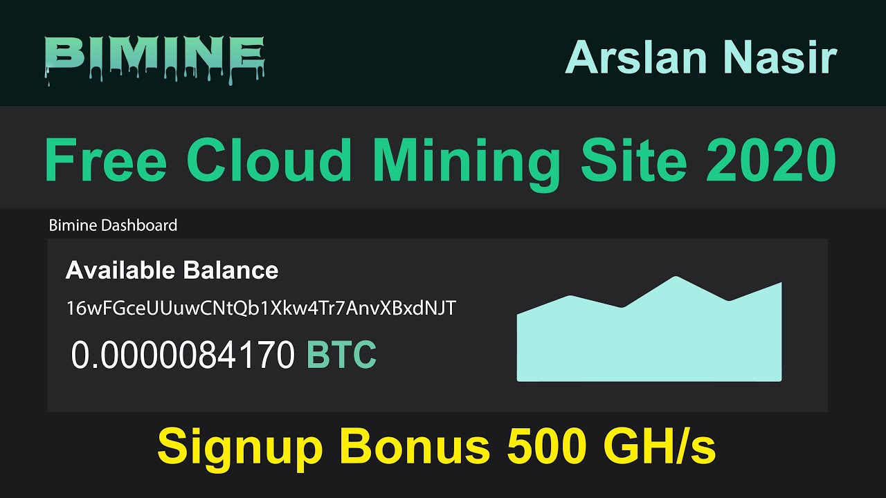Bimine - New Free Bitcoin Auto Cloud Mining Site 2020 - Free ...