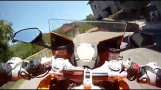 KTM 1190 RC8 ORANGE ROAD Go Pro TEST