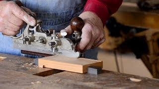 How To Use A Stanley 45 Combination Plane To Cut Grooves
