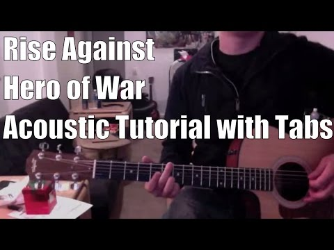 Rise Against - Hero of War (Guitar Lesson/Tutorial with Tabs)