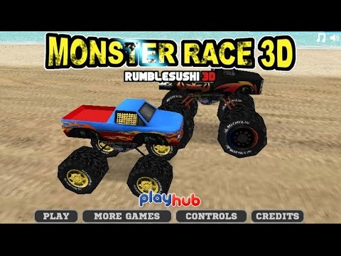 Monster Truck Race Car Racing Games Games For Kids Youtube
