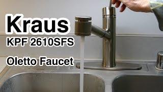 KRAUS KPF 2610SFS Oletto Kitchen Faucet 10.5 inch