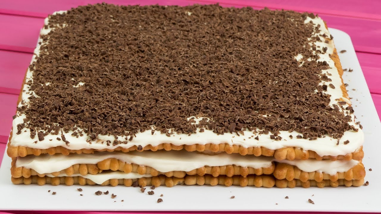 Savuros tv tort de biscuiti fara coacere