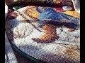 Вышиваю по канве с нанесенным рисунком - Дед Мороз 1702 МАТРЕНИН ПОСАД/ мои советы по вышивке