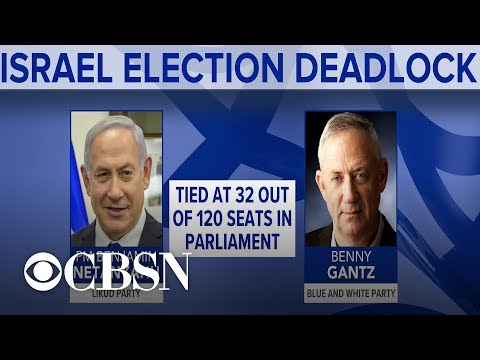 Early election results show Israel's top two parties nearly tied