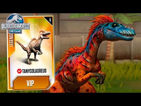 TANYCOLAGREUS MAX LVL 40! -Jurassic World The Game - *NEW DINO* HD