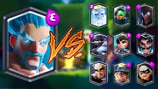 ICE WIZARD VS ALL CARDS IN CLASH ROYALE | ICE WIZARD 1 ON 1 GAMEPLAY