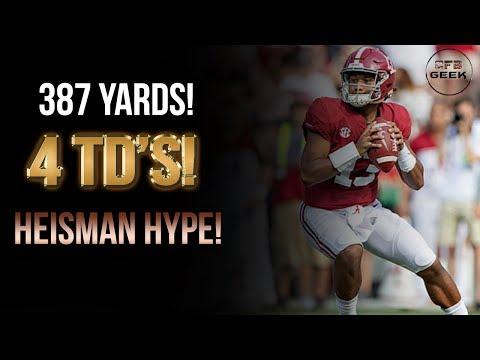 Tua Tagovailoa All Throws vs. Texas A&M: The Heisman Hype is real!