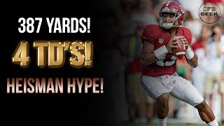 Tua Tagovailoa All Throws vs. Texas A&M: The Heisman Hype is real!