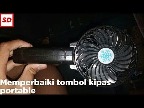 Cara Memperbaiki Tombol Kipas Angin Portable Yang Rusak Youtube