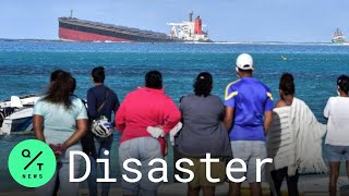 Bad Weather Hurts Efforts to Stop Oil Spill Off Mauritius