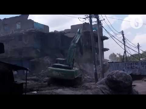 Demolition of unsafe residential buildings has started in Mathare Area 1