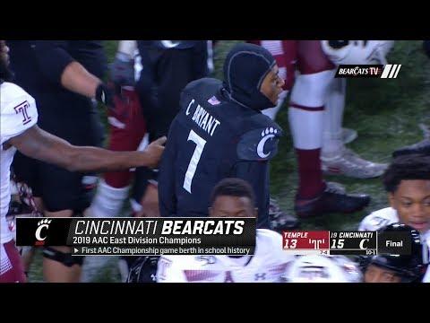 Football Highlights: Cincinnati 15, Temple 13 (Courtesy ESPN)