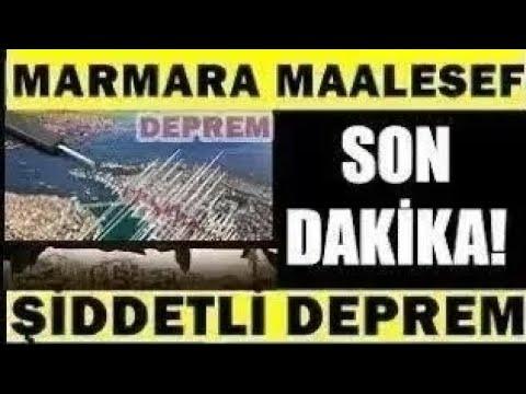 Marmara'dan Kötü Haber! ŞİDDETLİ Korkutan DEPREM! SON DAKİKA Haberi Açıklaması