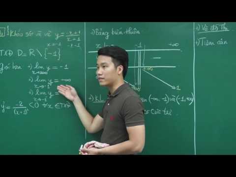 Khảo sát hàm phân thức Bậc 1 - Thầy Nguyễn Quốc Chí