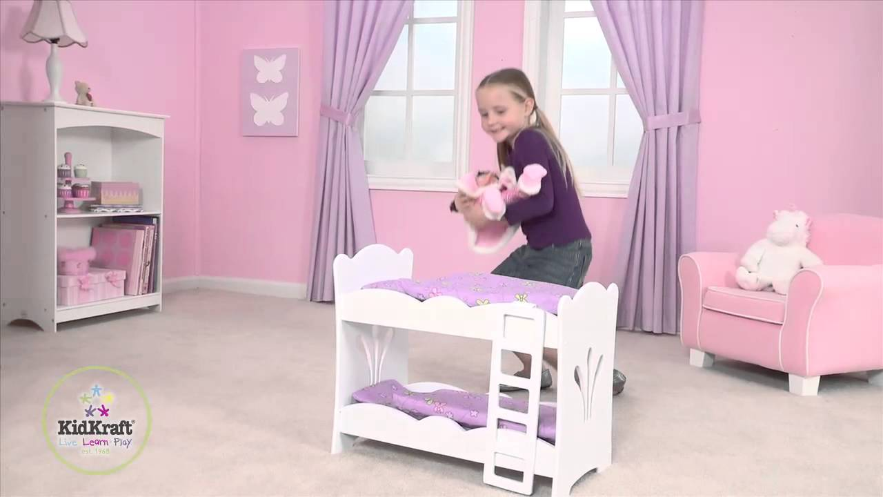 lit superpos lil 39 doll petite poup e pour poup e kidkraft youtube. Black Bedroom Furniture Sets. Home Design Ideas