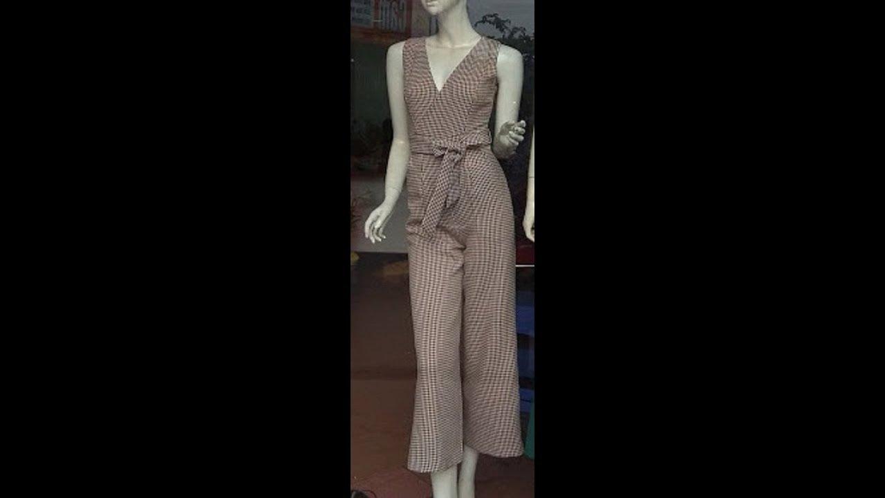 Hướng dẫn cắt bộ áo liền quần, jumpsuit- Part 2 Thân quần. How to cut jumpsuit.