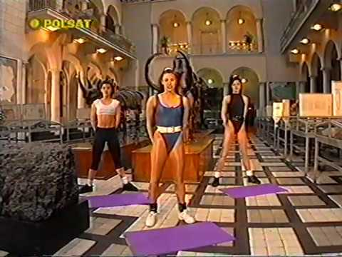 Sexy 90s fitness girls in leotards