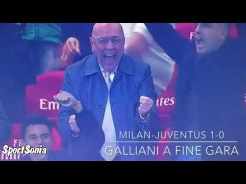 Adriano Galliani celebrates victory over Juventus / Milan 1-0 Juventus