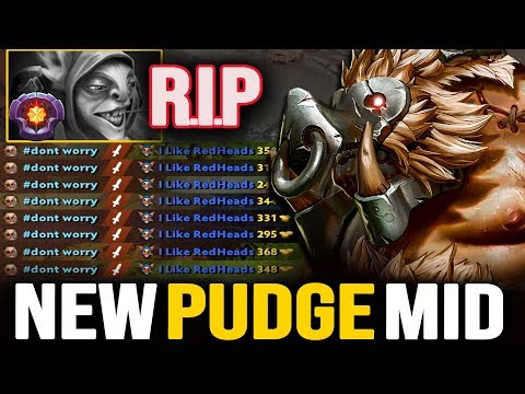 CRAZY PUDGE MID!!! NO MERCY PUDGE DESTROYED MASTER TIER MEEPO AT MID   Pudge Official