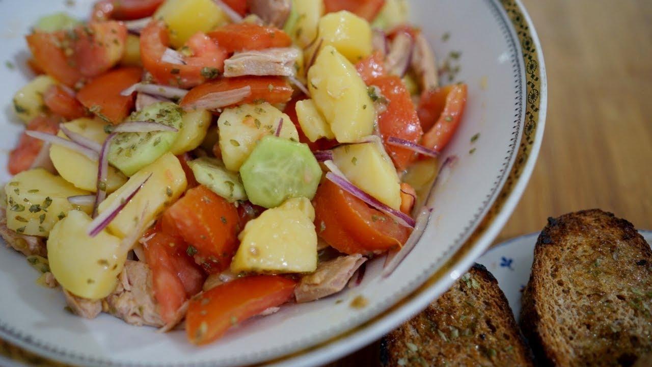 Cialda barese La Ricetta dell'insalata di patate tipica