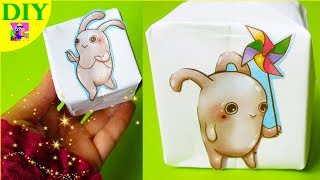 DIY Origami Cube 3D no glue. How to Make a Paper Kawaii Cube tutorial step by step