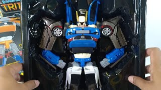 Unboxing Mainan Tobot Tritan Besar Blue Toys Transformers