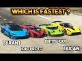 GTA 5 ONLINE : TYRANT VS X80 PROTO VS ENTITY XXR VS TAIPAN (WHICH IS FASTEST SUPER CAR?)