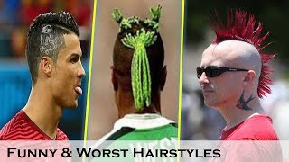 Funny Haircuts in football| Ugliest haircuts in football history ft. Neymar,Ronaldo,Beckham