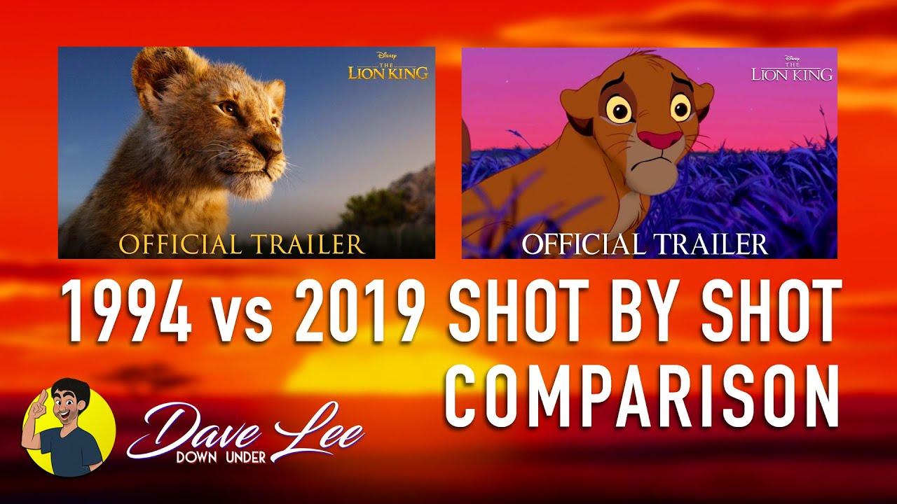 The Lion King Trailer Comparison 2019 Vs 1994 Shot By Shot