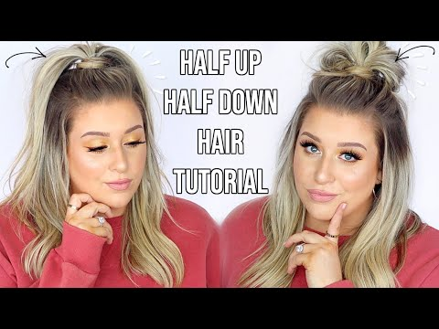 EASY Half Up Half Down Hairstyles!! | How To do half up half down hair | Quick \u0026 Easy Hair Tutorials