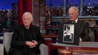 Jimmy Page 2014/1/06 David Letterman