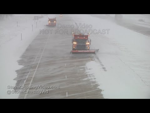 Winter Storm on the Minnesota and Iowa State Line - 12/28/2015
