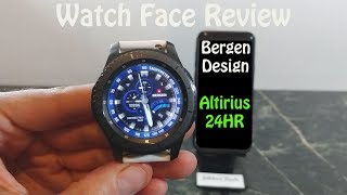 Watch Face Review : Bergen Altirius Gear S2 Gear S3 Gear Sport
