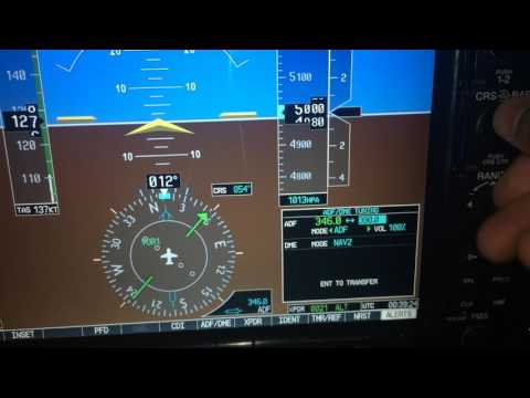How to tune an NDB and DME on the G1000