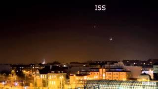 Spotkanie Wenus, Marsa, Księżyca oraz ISS,  20-21 II 2015