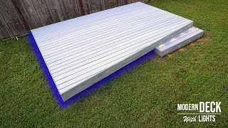 Building a deck with LED Lights & Composite Deck installation