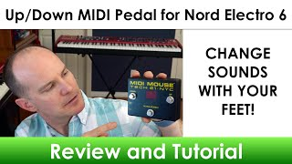I use a MIDI Mouse footswitch pedal to navigate programs up/down on my Nord Electro 6 keyboard